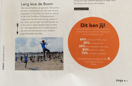 Buiten-Yoga in Yoga Magazine