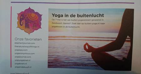 Vermelding Buiten-Yoga in Yoga International