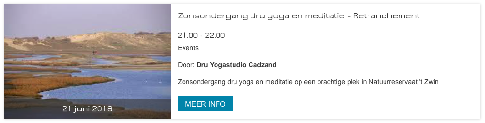 Yoga Dag event Retranchement