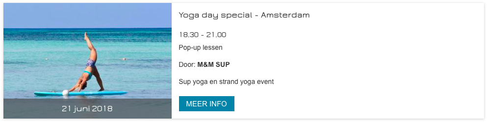 Internationale Yoga Dag event Amsterdam
