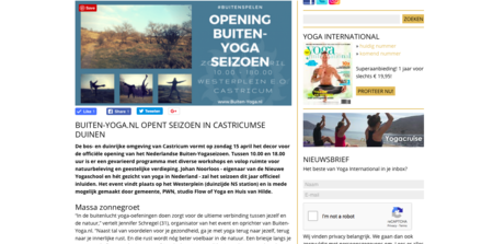 Vermelding Yoga International
