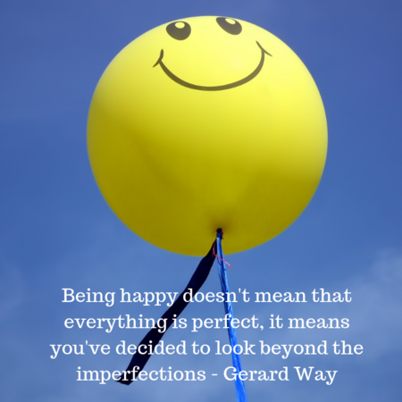Quote happiness looking beyond the imperfections